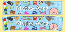 Maths Area Sign