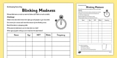 Blinking Madness Activity Sheet