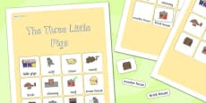 The Three Little Pigs Vocabulary Poster