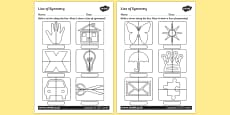 Line of Symmetry Activity Sheet
