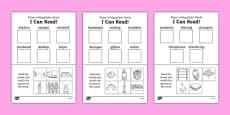 I Can Read! Phase 4 Polysyllabic Words Activity Sheet