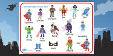 Superhero Word Mat (Images)