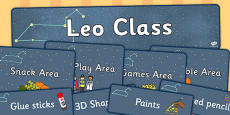 Leo Class Constellation Themed Classroom Display Pack