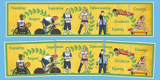 Olympics and Paralympics Values Display Banner