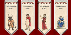 Theseus and the Minotaur Editable Bookmarks