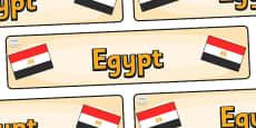 Egypt Display Banner