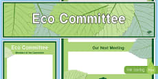 Eco Committee Display Banner and Poster