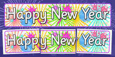 Happy New Year Display Banner