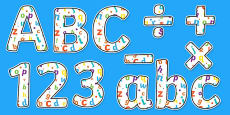 Alphabet Themed Display Letters and Numbers Pack