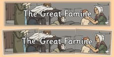 The Great Famine - Display Banner