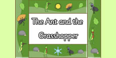 The Ant and the Grasshopper Display Borders
