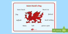 Saint David's Day Word Mat