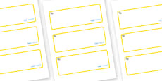 Daisy Themed Editable Drawer-Peg-Name Labels (Blank)