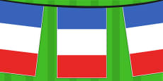 France A4 Flag Bunting