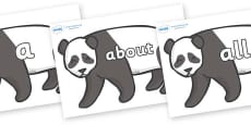 100 High Frequency Words on Pandas