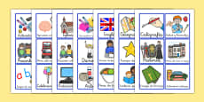 Visual Timetable for KS1 Spanish