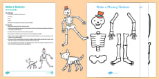 Make a Skeleton Busy Bag Resource Pack for Parents to Support Teaching on Funny Bones