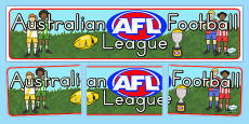 AFL Australian Football League Editable Banner for Publisher