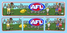 AFL Australian Football League Editable Banner for Publisher