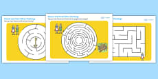 Hansel and Gretel Differentiated Maze Activity Sheet Pack