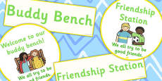 Buddy Bench And friendship Station Display Signs