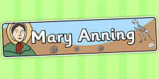 Mary Anning Display Banner