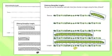 Ordering Caterpillar Lengths Activity Pack