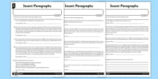 Paragraphs - Insects Differentiated Activity Sheet Pack