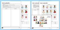 Here Is My Family Activity Sheet French