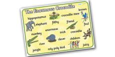 Word Mat to Support Teaching on The Enormous Crocodile
