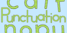 Punctuation Display Lettering Green