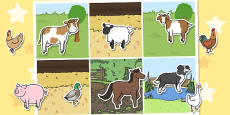 Farm Animal Sorting Activity