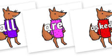 Tricky Words on Small Fox 3 to Support Teaching on Fantastic Mr Fox