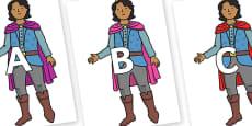 A-Z Alphabet on Prince