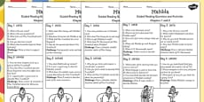 Guided Reading Sheets for Pupils to Support Teaching on Matilda
