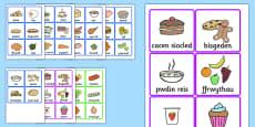 Food Cards Welsh Translation