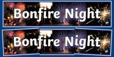 Bonfire Fireworks Photo Display Banner