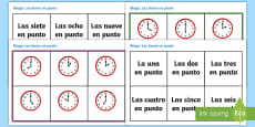 * NEW * O'Clock Time In Spanish Bingo