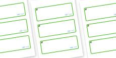 Cedar Tree Themed Editable Drawer-Peg-Name Labels (Blank)