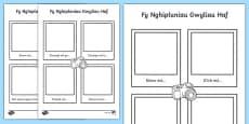 My Holiday Snapshots Writing Frame Gaeilge
