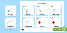 Toy Hospital ID Badges
