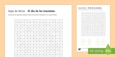 * NEW * Lower Ability April Fools' Day Differentiated Word Search Spanish