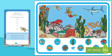 * NEW * Ocean Life Can You Find...? Poster and Prompt Card Pack