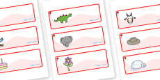 Rose Themed Editable Drawer-Peg-Name Labels
