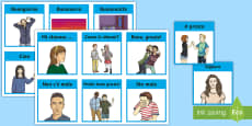 * NEW * Italian Greetings Information Cards