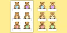 Bear Self Registration Labels