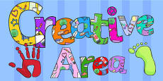 Creative Area Display Lettering