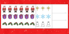 Aistear Christmas and The Post Office Wrapping Paper and Pattern Activity