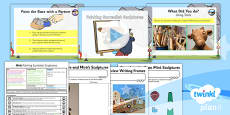 PlanIt - Art KS1 - Miro Lesson 6: Painting Surrealist Sculptures Lesson Pack
