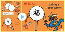 Australia - Chinese New Year Craft Paper Drum Making Activity PowerPoint